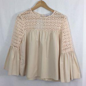 Endless Rose eyelet bell sleeve blouse - size M